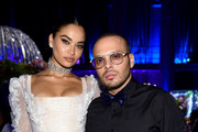 Shanina Shaik (L) and Richie Akiva attend Rihanna's 5th Annual Diamond Ball Benefitting The Clara Lionel Foundation at Cipriani Wall Street on September 12, 2019 in New York City.