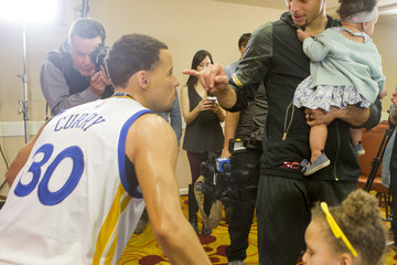 Riley Curry Madame Tussauds San Francisco Reveals Wax Figure of Golden State Warriors Point Guard Stephen Curry In Oakland On March 24