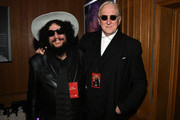 (L-R) Don Was and T Bone Burnett attend the Ringo Starr 11th Annual Peace & Love Birthday Worldwide Celebration at Capitol Records Tower on July 07, 2019 in Los Angeles, California.