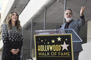 Tom Hanks speaks as Rita Wilson is honored with a star on the Hollywood Walk of Fame on March 29, 2019 in Hollywood, California.