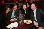 Kelly Turlington Burns, Edward Burns, Christy Turlington Burns and Brian Burns attend Rita Wilson's Opening Night at 54 Below on April 14, 2013 in New York City.