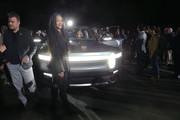 Rihanna attends Rivian Unveils First-Ever Electric Adventure Vehicle Before Its Official Reveal At The LA Auto Show at Griffith Observatory on November 26, 2018 in Los Angeles, California.