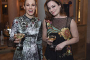 Singer Teal Wicks and actress Laura Michelle Kelly attend the after party of the New York premiere Of 'Hello, My Name Is Doris' hosted by Roadside Attractions with The Cinema Society & Belvedere Vodka at Mr. Purple on March 7, 2016 in New York City.
