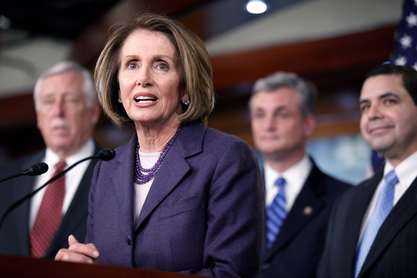 Nancy Pelosi And House Democrats Hold Press Conference