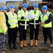 Rob Walker Zac Goldsmith and David Cameron Visit a Housing Construction Site