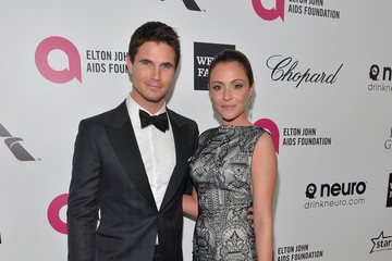 Robbie Amell Inside the Elton John AIDS Foundation Oscars Viewing Party