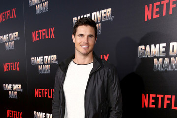Robbie Amell The Premiere Of Netflix Film 'Game Over, Man!' At The Regency Village Westwood In Los Angeles