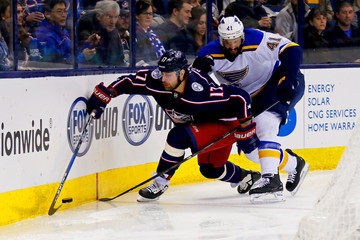 Robert Bortuzzo St Louis Blues vs. Columbus Blue Jackets