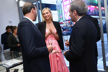 Robert Buchbauer Swarovski Celebrates Opening Of Times Square Store With Karlie Kloss