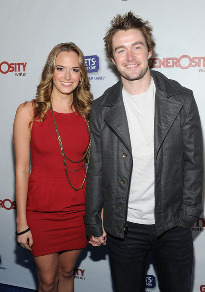 Robert Buckley with beautiful, cute, cheerful, Girlfriend Shantel VanSanten