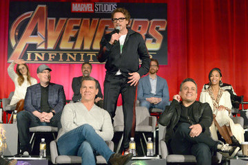 "Robert Downey Jr. Kevin Feige ""Avengers: Infinity War"" Global Press Conference"