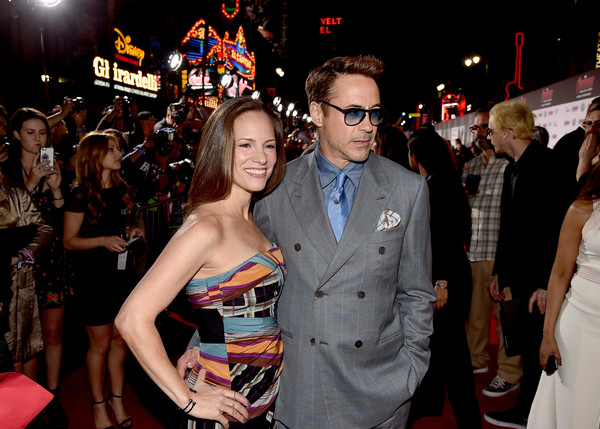 Premiere Of Marvel's 'Avengers: Age Of Ultron' - Red Carpet [avengers: age of ultron,red carpet,event,premiere,fashion,flooring,carpet,fun,eyewear,party,dress,red carpet,robert downey jr.,susan downey,dolby theatre,california,hollywood,marvel,l,premiere]