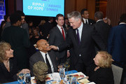(L-R) Pamela Frank, Harry Belafonte, Alec Baldwin and Ethel Kennedy attend Robert F. Kennedy Human Rights Hosts Annual Ripple Of Hope Awards Dinner on December 13, 2017 in New York City.