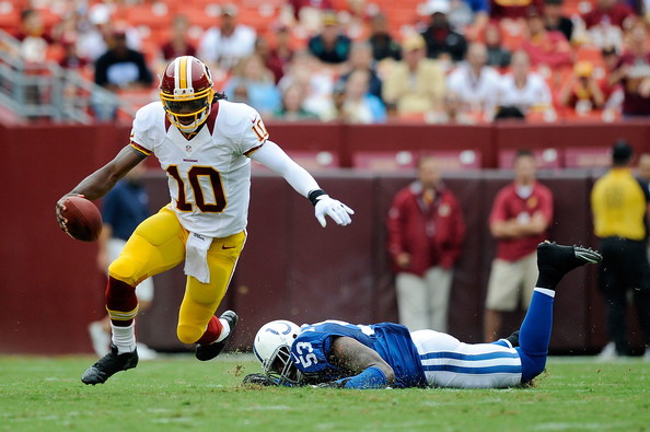 Robert Griffin III in preseason game against Indianapolis Colts