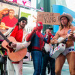 Robert John Burck Billy Ray Cyrus Promotes 'Still the King' In Times Square