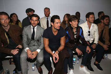 Robert Konjic Arrivals & Front Row - Day 3 - London Collections Men SS17