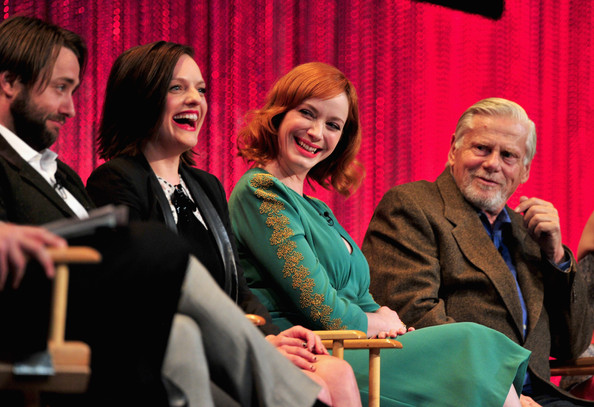 "The Paley Center For Media's PaleyFest 2014 Honoring ""Mad Men"" [mad men,event,conversation,academic conference,convention,performance,audience,employment,management,actors,christina hendricks,robert morse,elisabeth moss,vincent kartheiser,stage,l-r,paley center for media,paleyfest 2014]"