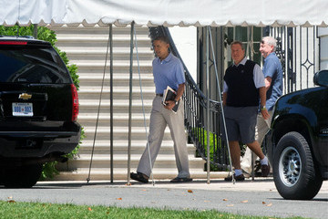 Robert Wolf Obama Takes Time To Golf At  Fort Belvoir