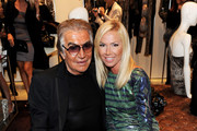 (L-R) Roberto Cavalli and Federica Panicucci attend Roberto Cavalli Milan Fashion Night Out on September 9, 2010 in Milan, Italy.