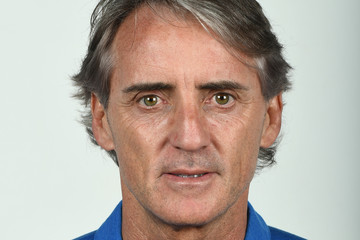 Roberto Mancini Italy Training Session And Press Conference