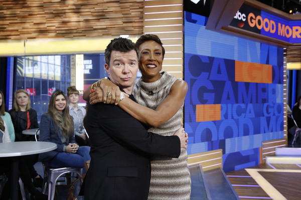 """ABC's """"Good Morning America"""" - 2017 [event,fun,leisure,house,good morning america,photo,rick astley,heidi gutman,robin roberts,abc,getty images,abc television network]"""