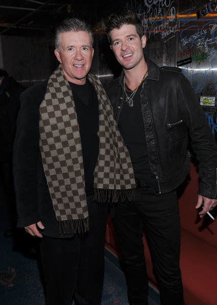 Alan Thicke and Robin Thicke