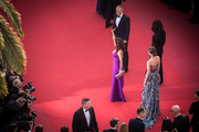 "This image was processed using digital filters.)  Actress Salma Hayek Pinault,Francois-Henri Pinault, Alessandro Michele and Charlotte Casiraghi attend the Premiere of ""Rocco And His Brothers"" during the 68th annual Cannes Film Festival on May 17, 2015 in Cannes, France."