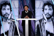 Musician Art Garfunkel speaks onstage at the 29th Annual Rock And Roll Hall Of Fame Induction Ceremony at Barclays Center of Brooklyn on April 10, 2014 in New York City.