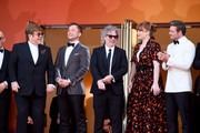 "Sir Elton John, Taron Egerton, Director Dexter Fletcher, Bryce Dallas Howard and Richard Madden attend the screening of ""Rocket Man"" during the 72nd annual Cannes Film Festival on May 16, 2019 in Cannes, France."