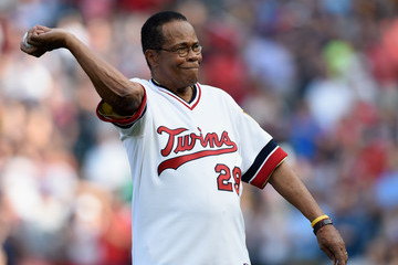Rod Carew Los Angeles Angels of Anaheim v Minnesota Twins