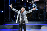 Rod Stewart performs at Madison Square Garden on August 7, 2018 in New York City.