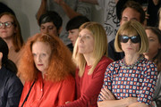 (L-R) Grace Coddington, Virginia Smith and Anna Wintour attends the Rodarte fashion show during Mercedes-Benz Fashion Week Spring 2015 on September 9, 2014 in New York City.