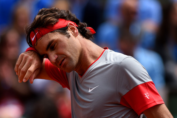 Roger+Federer+2014+French+Open+Day+One+Y