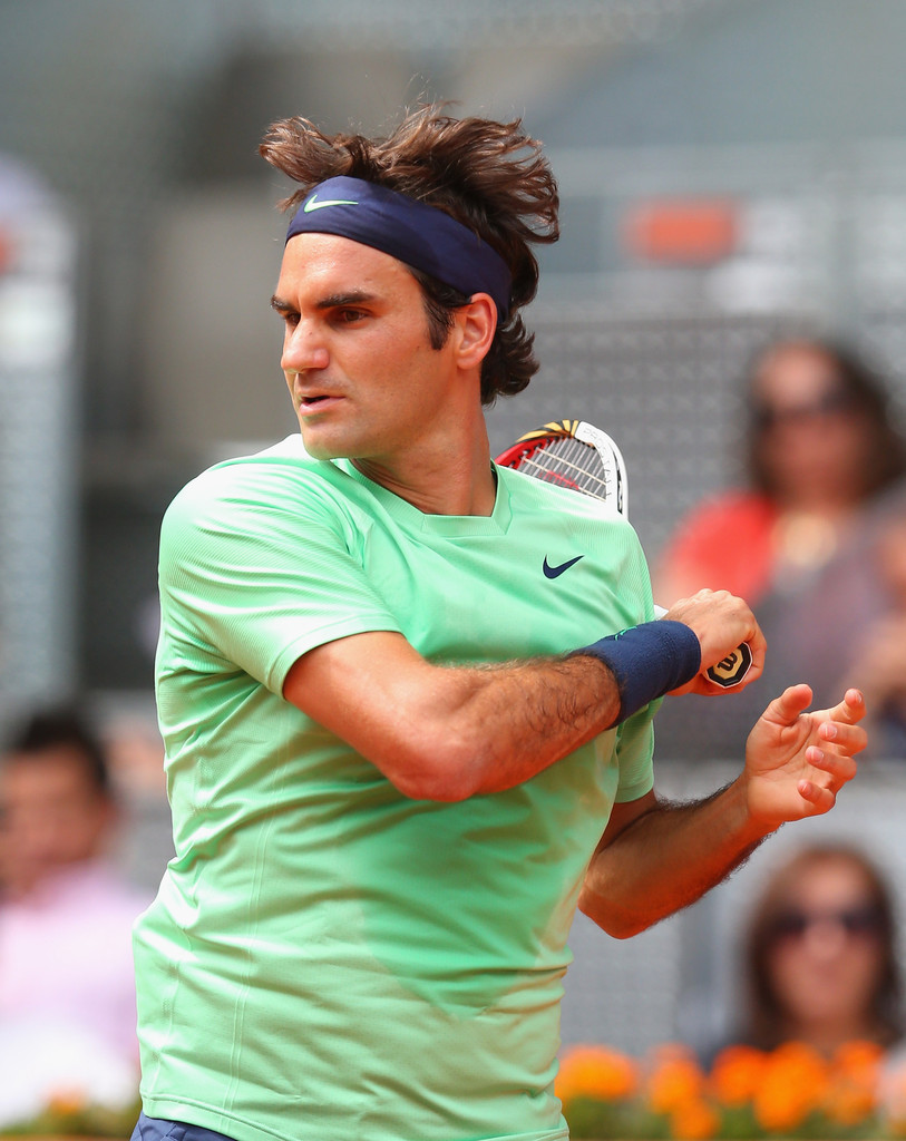 Roger+Federer+Mutua+Madrid+Open+Day+4+Hz
