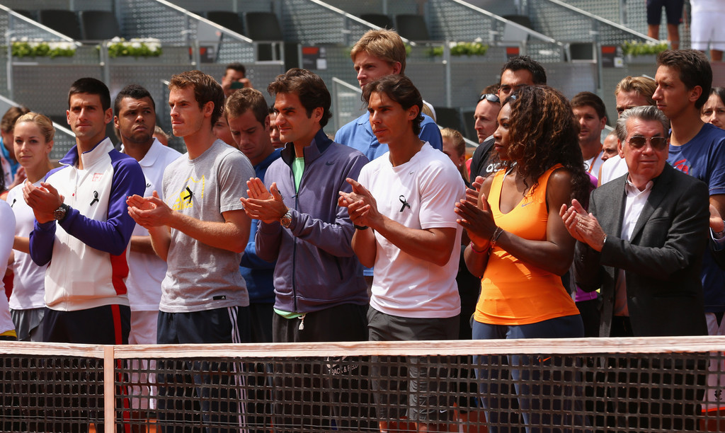 Roger+Federer+Mutua+Madrid+Open+Day+Two+