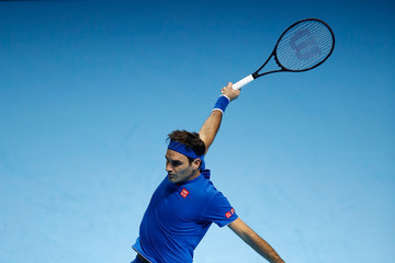 Roger Federer Nitto ATP World Tour Finals - Day One