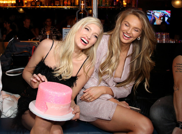 Boohoo x All That Glitters Launch Party [fun,party,nightclub,bachelorette party,event,leg,thigh,leisure,smile,music venue,elsa hosk,all that glitters launch party,l-r,california,los angeles,all that glitters,romee strijd]