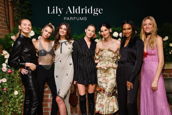 Lily Aldridge Parfums Launch Event [photo,social group,fashion,event,lady,formal wear,dress,fun,fashion design,ceremony,suit,lily aldridge,stella maxwell,martha hunt,jasmine tookes,elsa hosk,bowery hotel,romee strijd,taylor hill,lily aldridge parfums launch event]