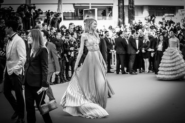 Romee Strijd Alternative View In Black & White - The 71st Annual Cannes Film Festival