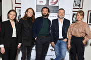 """Diane Rouxel, Sophie Brafman, William Lebghil, Eric Naulleau, & attend the 37th """"Romy Schneider And Patrick Dewaere Awards""""  Nominee Luncheon At Cinema Le Mac Mahon on March 21, 2019 in Paris, France."""