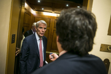 Ron Johnson Senate Lawmakers Address the Media After Their Weekly Policy Luncheons