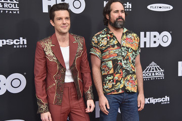 Ronnie Vannucci Brandon Flowers 33rd Annual Rock & Roll Hall Of Fame Induction Ceremony - Arrivals