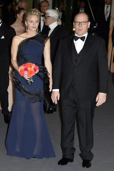 Princess Charlene of Monaco and Prince Albert II of Monaco attend the Rose Ball 2014 in aid of the Princess Grace Foundation at Sporting Monte-Carlo on March 29, 2014 in Monte-Carlo, Monaco.