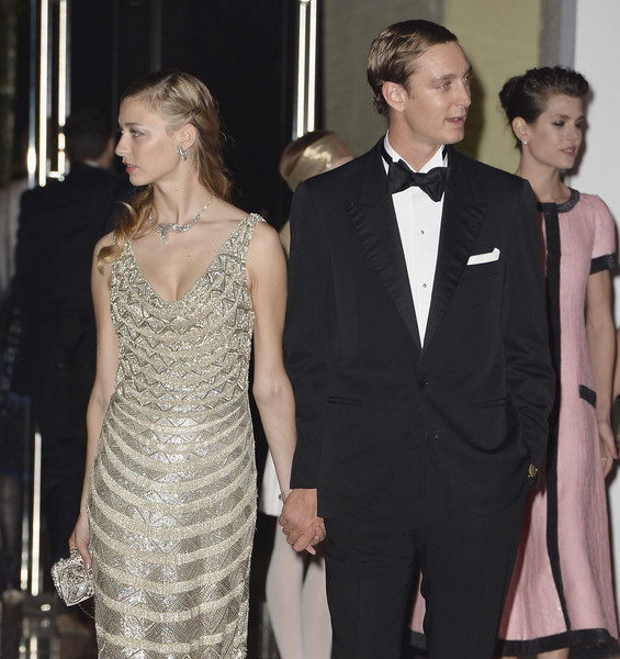 (L-R) Beatrice Borromeo, Pierre Casiraghi, and Charlotte Casiraghi attend the Rose Ball 2015 in aid of the Princess Grace Foundation at Sporting Monte-Carlo on March 28, 2015 in Monte-Carlo, Monaco.