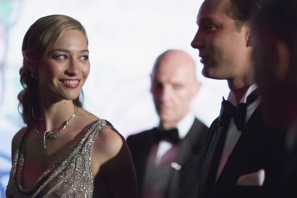 (TABLOIDS OUT)  Pierre Casiraghi and Beatrice Borromeo attend the Rose Ball 2015 in aid of the Princess Grace Foundation at Sporting Monte-Carlo on March 28, 2015 in Monte-Carlo, Monaco.