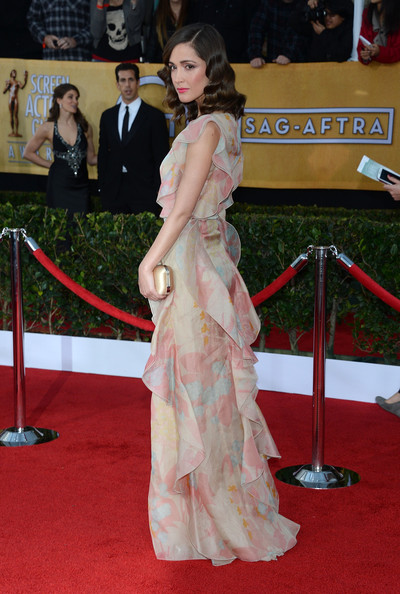 19th Annual Screen Actors Guild Awards - Arrivals [red carpet,carpet,clothing,flooring,dress,gown,premiere,event,formal wear,arrivals,rose byrne,screen actors guild awards,los angeles,california,the shrine auditorium]