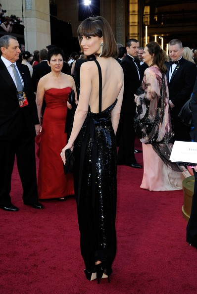 84th Annual Academy Awards - Arrivals [red carpet,carpet,clothing,dress,flooring,fashion,event,gown,premiere,haute couture,arrivals,rose byrne,hollywood highland center,california,84th annual academy awards]