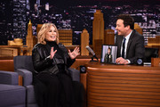 """Roseanne Barr Visits """"The Tonight Show Starring Jimmy Fallon"""" on April 30, 2018 in New York City."""
