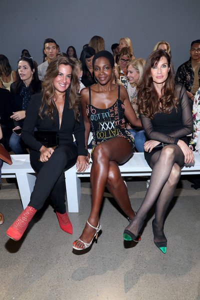 Nicole Miller - Front Row - September 2019 - New York Fashion Week: The Shows [shows,fashion,beauty,event,model,leg,fashion show,footwear,runway,fashion design,fun,nicole miller,roshumba williams,carol alt,rhonda vetere,front row,front row,l-r,spring studios,new york fashion week]