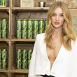 Rosie Huntington-Whitely Loves Coca-Cola